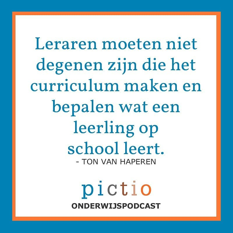 Luister naar de nieuwste aflevering van de Pictio @onderwijspodcast! Ton aan Haperen en Mini Schouten over de vraag wat goed onderwijs is. #podcast #onderwijs
