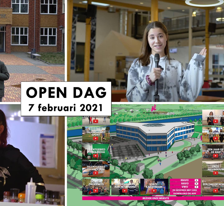 Kom op www.kniplive.nl naar onze digitale open dag! #Knip #onderwijs