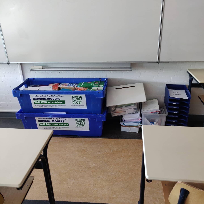 Bijna leeg, bijna klaar. Op naar de Rembrandtlaan met @drknippenbergcollege! #verhuizen #Knip #onderwijs #school