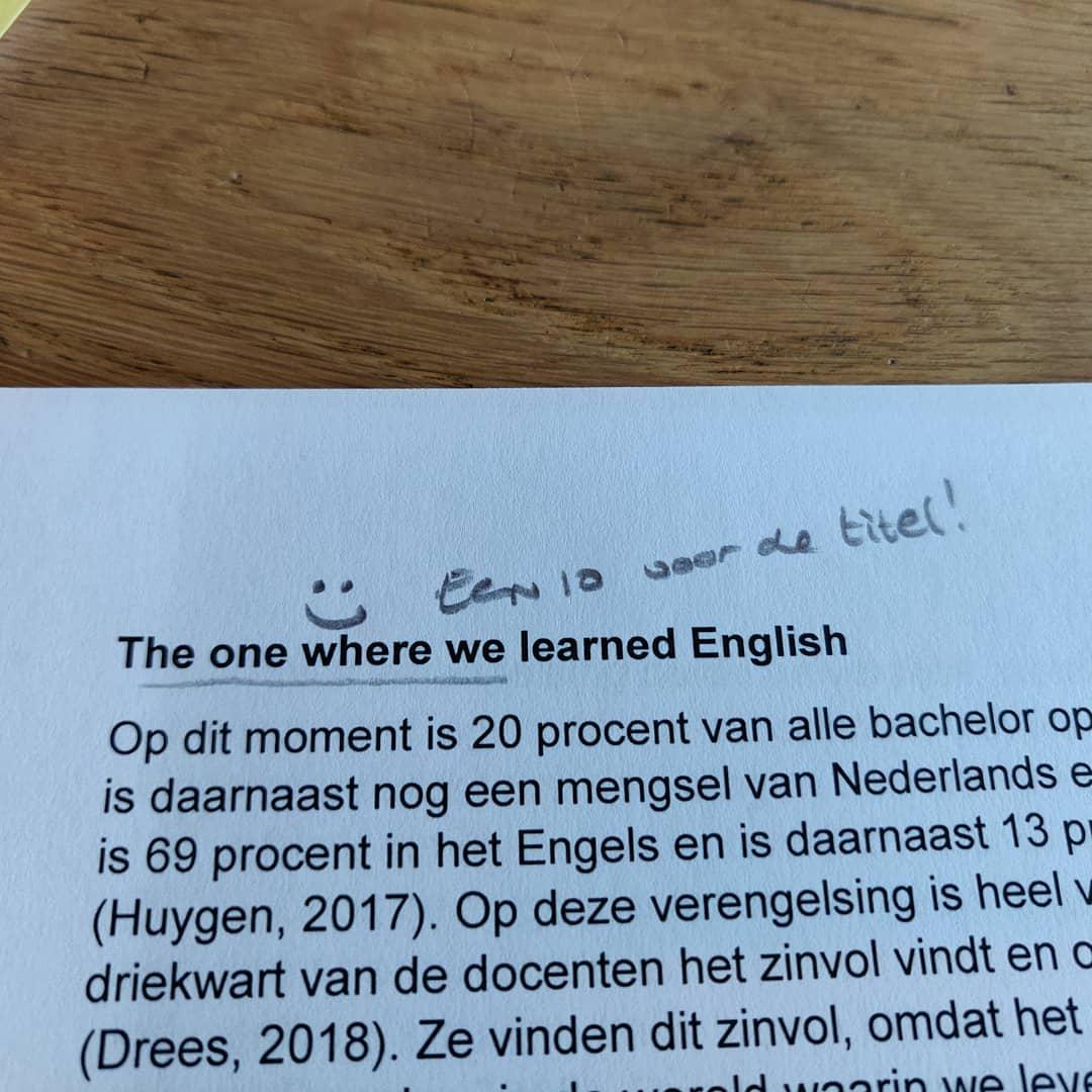 Leerlingen die hun publiek goed inschatten… Could I be any happier? #friends #onderwijs #Knip